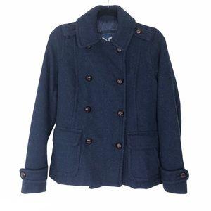 American Eagle navy blue long sleeve pea coat SM